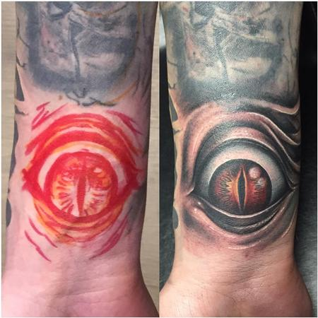 Tattoos - Freehand Eye in Color - 128299
