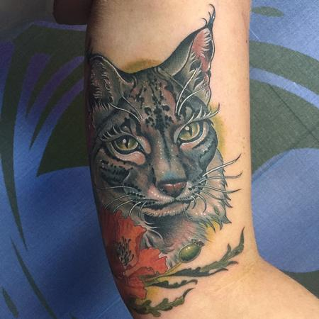 Tattoos - Linx and Flowers in Color - 129967