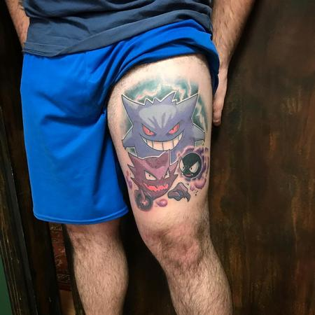 Tattoos - Pokemons Gastly Haunter and Gengar Tattoo - 131515