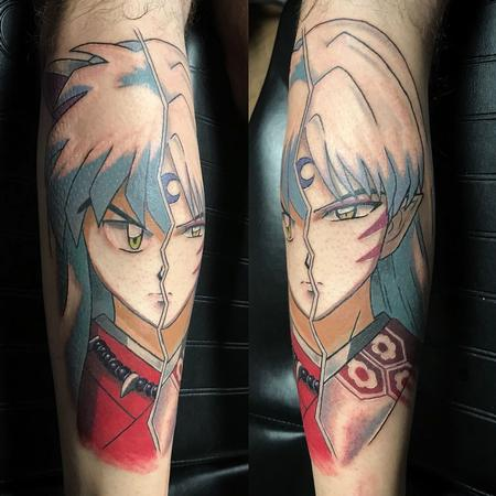 Tattoos - Inuyasha and Seshomaru Tattoo in Color - 131696