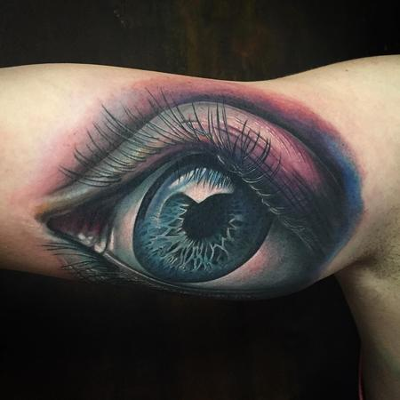 Realistic eye in color Tattoo Design Thumbnail