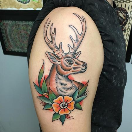 Tattoos - Traditional deer - 132044