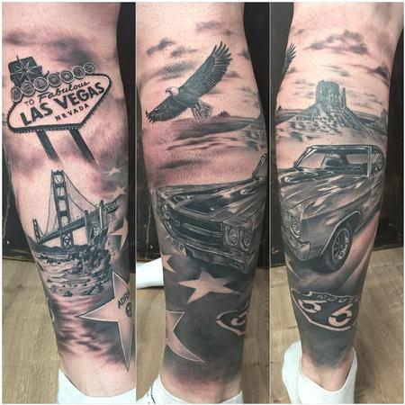 Tattoos - Route 66 tribute - 133454