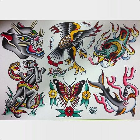Delfoco - Tradicional Tattoo Flash