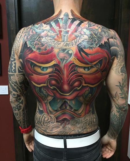 Tattoos - Hannya Mask Backpiece Filler in Color - 131048