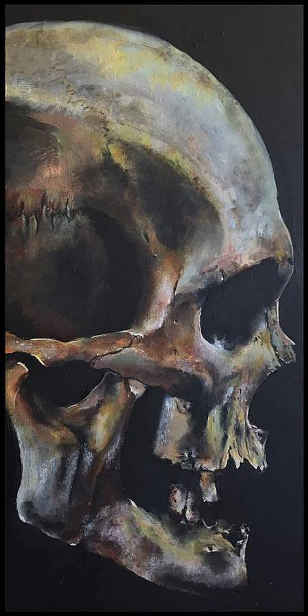 Linn - Skull Oil Painting