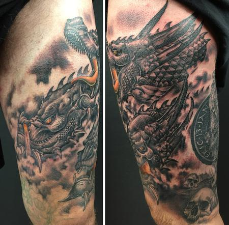 Tattoos - Dragons black and grey - 132311