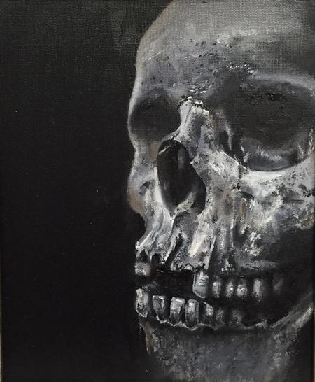 Linn - Oil painting Skull