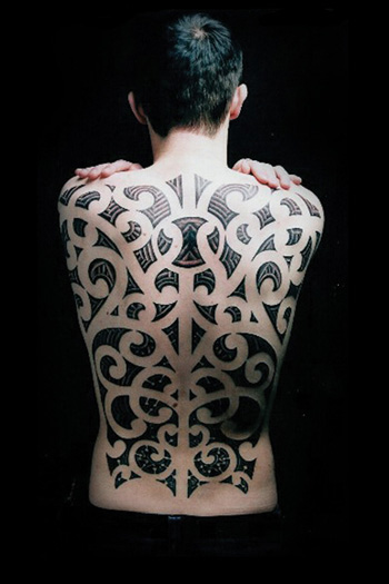 Tattoos - maori backpiece - 28026