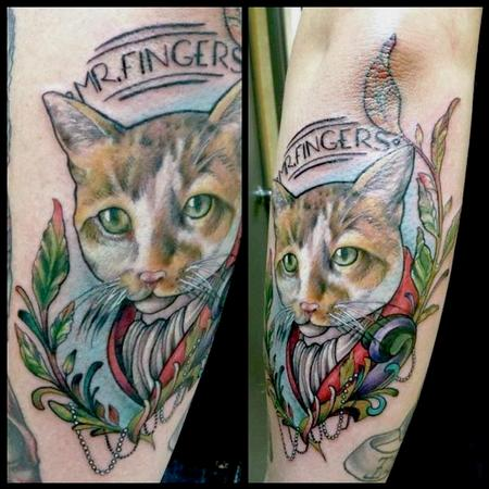 Nakota Garza - Mr. Fingers Cat Tattoo