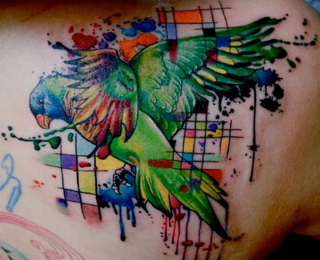 Tattoos - Abstract Parakeet - 91597
