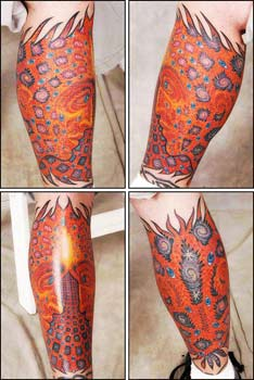Nate Beavers - Alex Grey Sleeve Tattoo