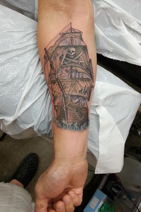 Tattoos - pirate ship tattoo - 82669
