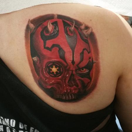 Darth maul skull tattoo Tattoo Design
