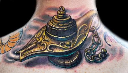 Magical Genie Lamp Tattoo Tattoo Design Thumbnail