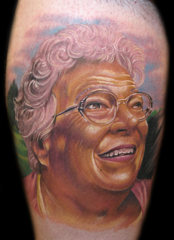 Tattoos - color grandma portrait - 32501