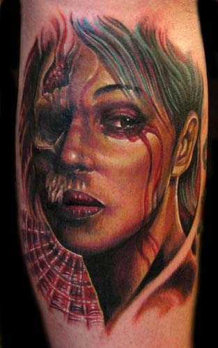 Tattoos - Creepy Girl Portrait - 28412