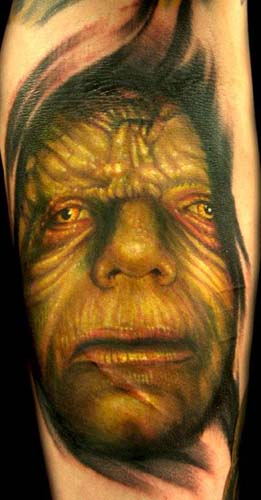 Tattoos - Movie Sci Fi tattoos - Emperor Palpatine