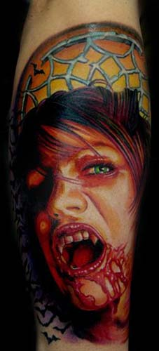 Tattoos - Vampire girl - 28416
