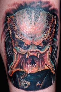 Nate Beavers - Predator tattoo