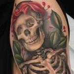 Skeleton and roses Tattoo Design Thumbnail