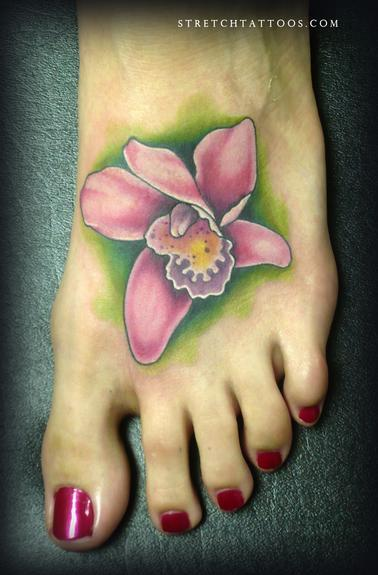 Tattoos - Orchid On Foot - 54220