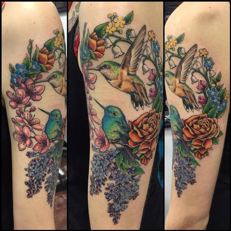 Tattoos - Hummingbirds - 100154