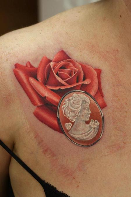 Tattoos - Realistic Rose Tattoo - 66909