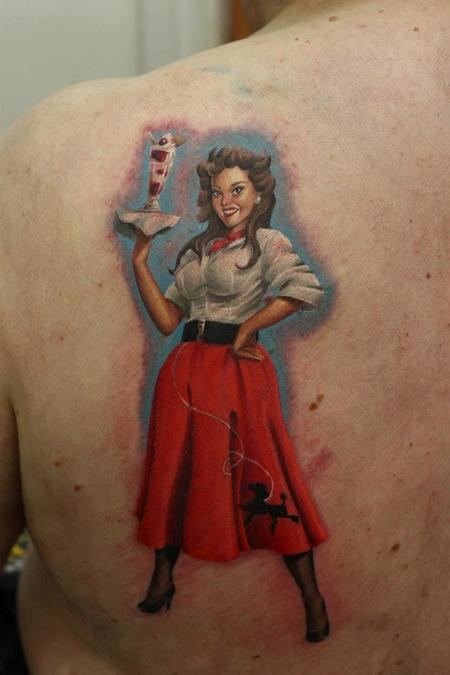 Tattoos - Pinup Girl with Ice Cream - 75252