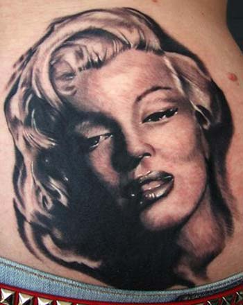 Comments Marilyn Monroe black and gray portrait tattoo