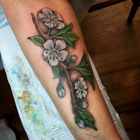 Tattoos - Apple Blossom Tattoo - 104815