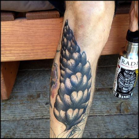 Tattoos - Pacific Northwest Lupine Dotwork Tattoo - 97688