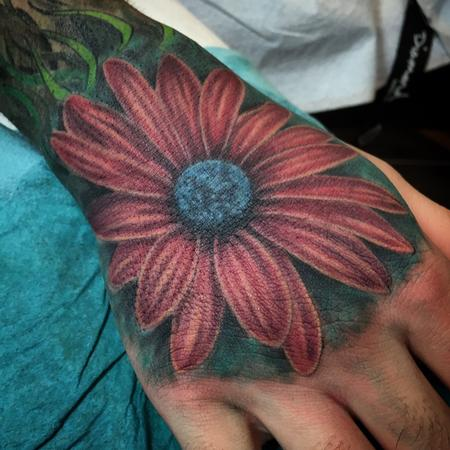 Tattoos - Aster Flower Tattoo - 120151