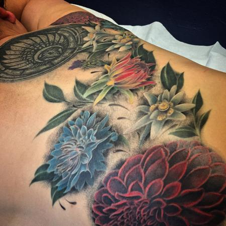 Tattoos - Botanical Flowers Tattoo - 119262