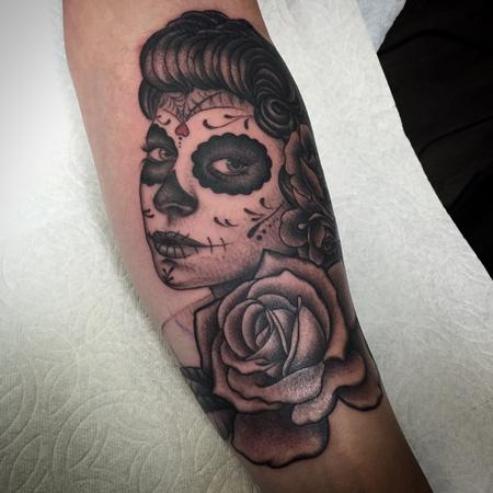 Tattoos - Day of The Dead Tattoo - 120148