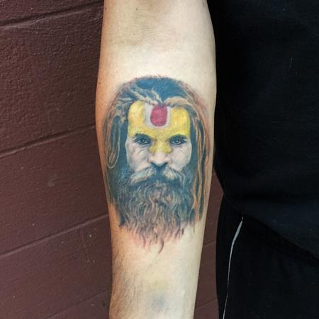 Tattoos - Hindu Holy Man Portrait Tattoo - 109845