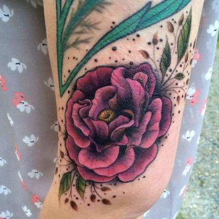 Tattoos - Illustrative Rose Tattoo - 101811