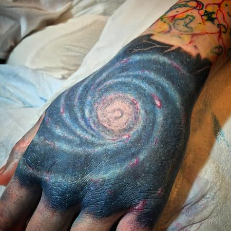 Milky Way Hand Tattoo Tattoo Design Thumbnail