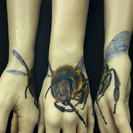 Tattoos - Bee Tattoo on A Pound of Flesh - 100122