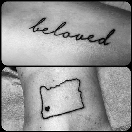 Tattoos - Beloved Script, Oregon Love - 101260