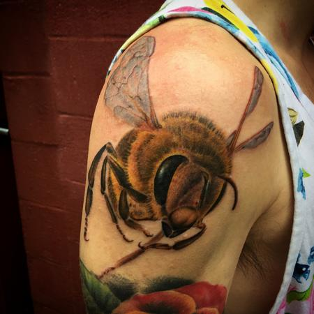 Tattoos - Realistic Bee Tattoo - 114148