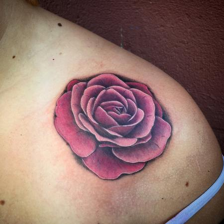 Tattoos - Soft Pink Rose Tattoo - 109852