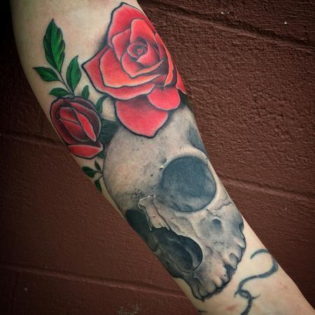 Tattoos - Skull and Rose Tattoo - 115669