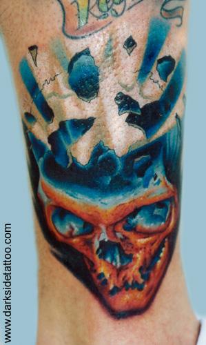 Nick Baxter - exploding skull