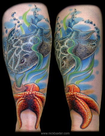 Tattoos - Angel Shark and Starfish - 6845