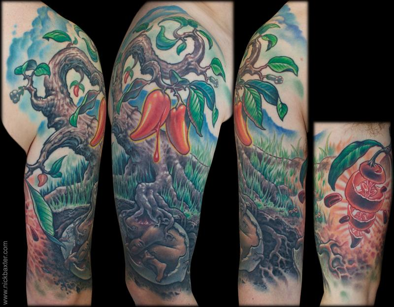 Iboga tree by nick baxter tattoonow for Substance abuse tattoos