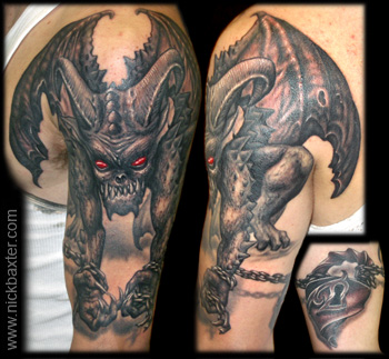 Tattoos - Chained Demon - 7900