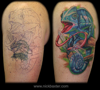 Tattoos - Chameleon Cover up - 11836