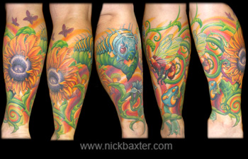 Original Peace Tattoos on Nick Baxter   Custom Tattoo Galleries   Original Artwork