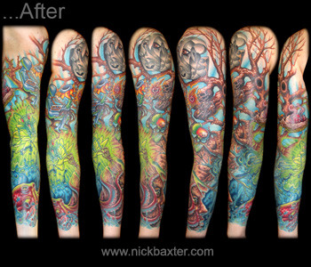 Tattoos - Surrealist Tree Rework Sleeve - 10395